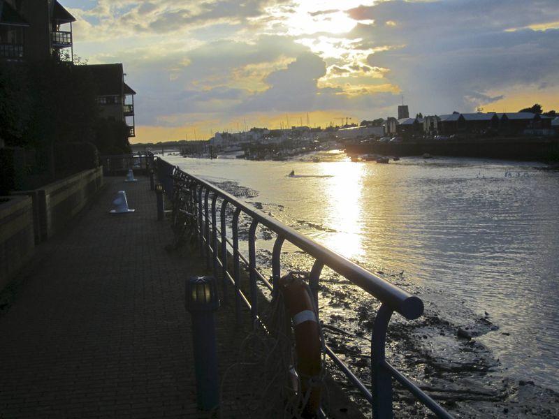 Evening light on the Adur